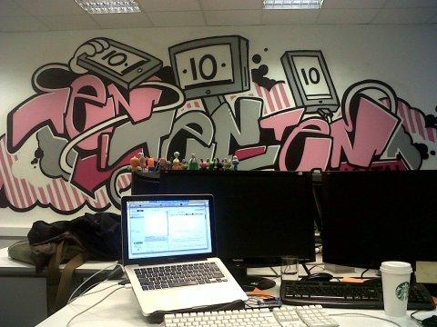 101010 digital mural