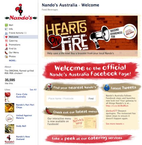 Nando's Australia Facebook Fanpage