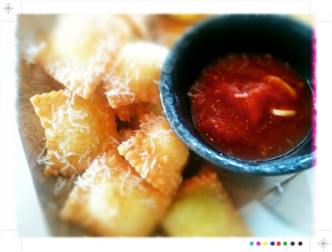 ravioli nachos