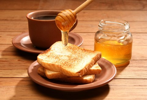 butter honey and toast