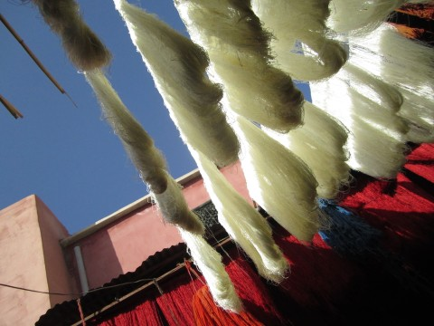moroccan dye and silk