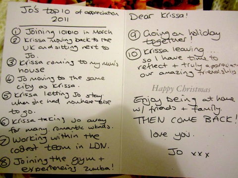 christmas card from jo