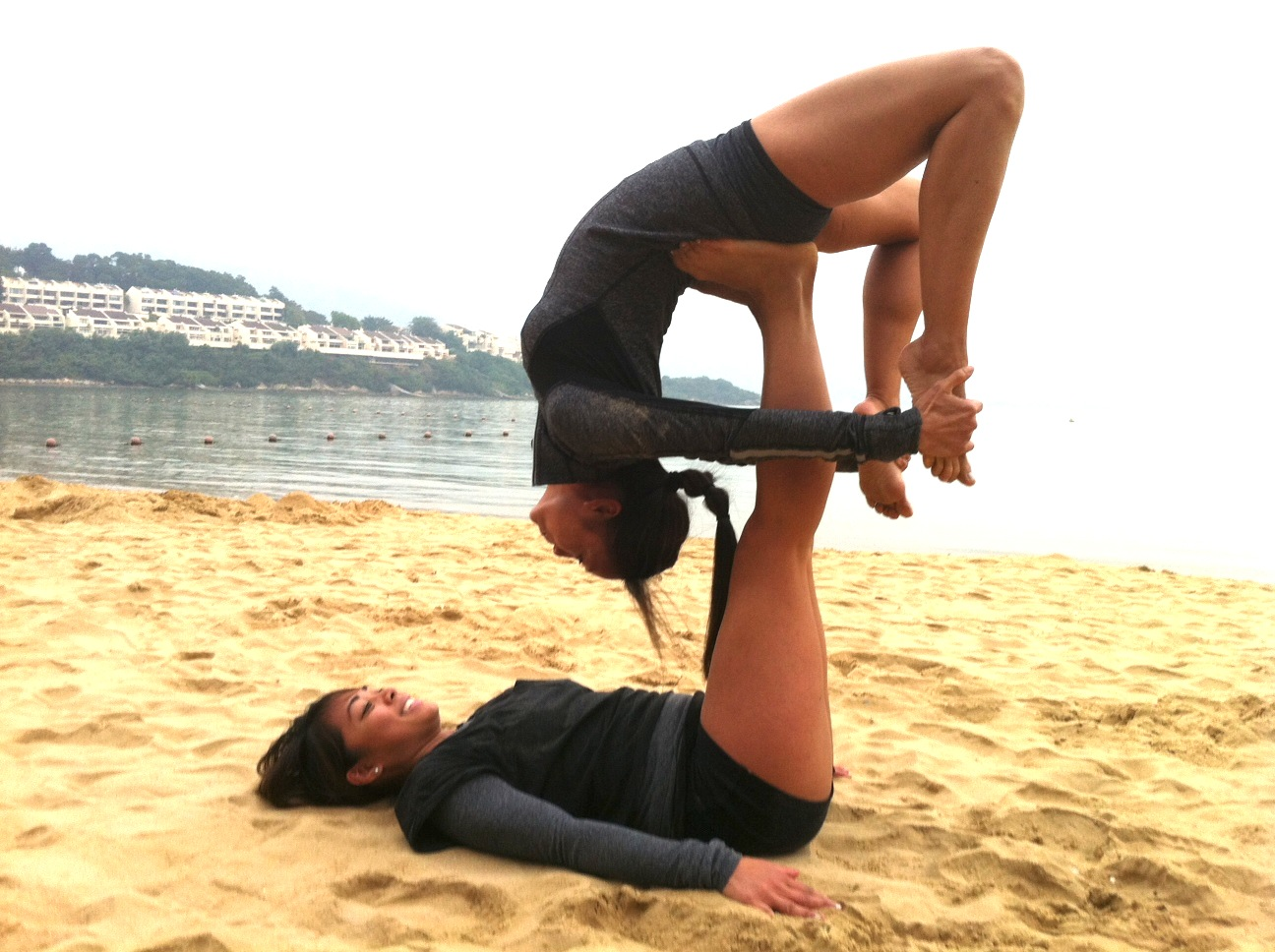 acroyoga with krissa and cinty