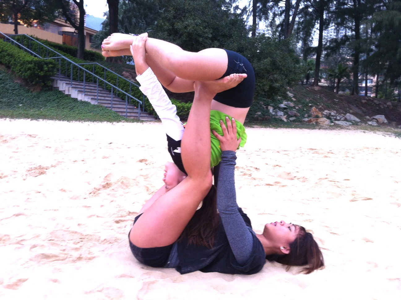 acroyoga with krissa and alix