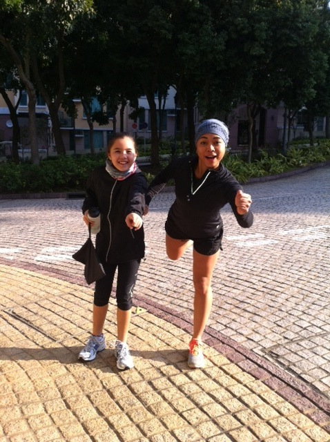 alix and krissa go running
