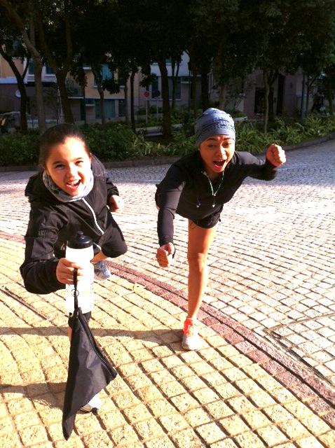 alix and krissa go running