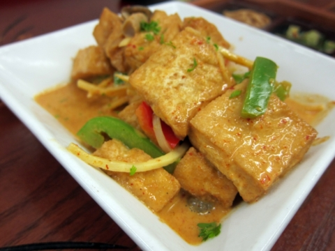 vegetarian red thai curry