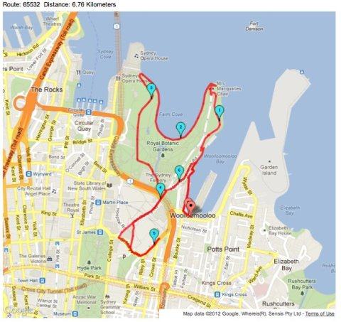 Sydney harbour run
