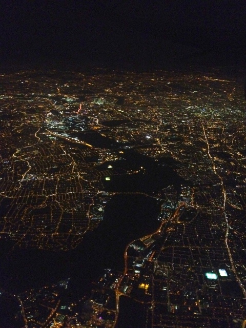 london night view from the sky