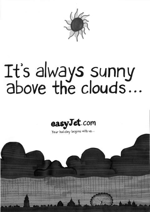 krissa's easyjet campaign idea - always sunny