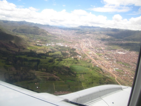 cusco from the sky