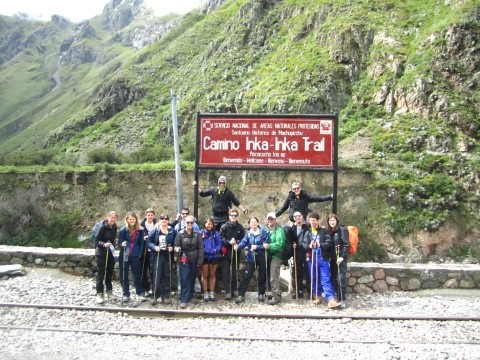 team puma starting on inca trail