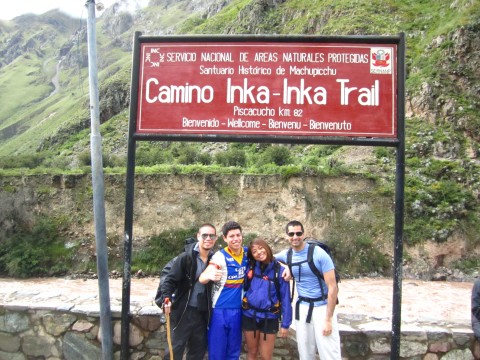 ariel, victor, krissa and arif on inca trail