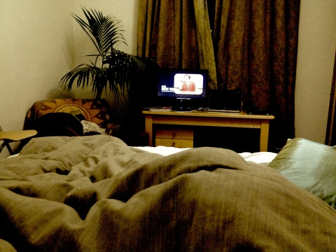 tv in bed