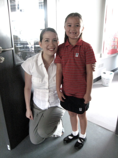 alix with her primary school teacher