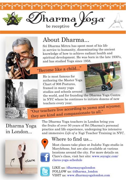 dharma mittra yoga flyer
