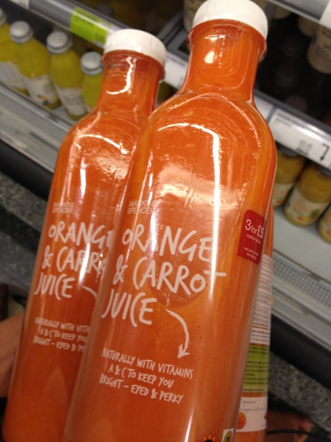 M&S Orange and Carrot juice