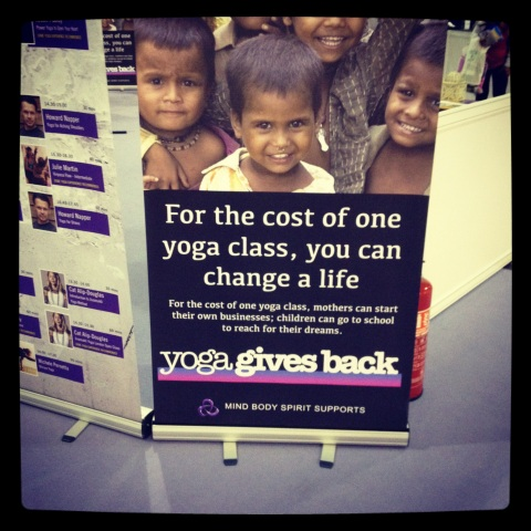 yoga gives back charity