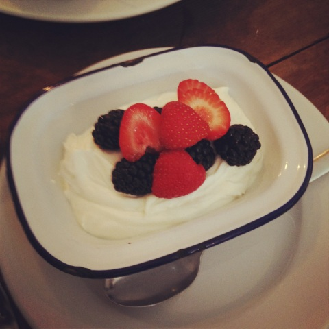fresh yoghurt and berries