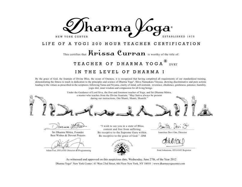 Yoga Teacher Certification New York Yourviewsite
