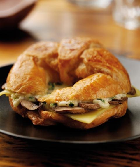 cheese mushroom croissant