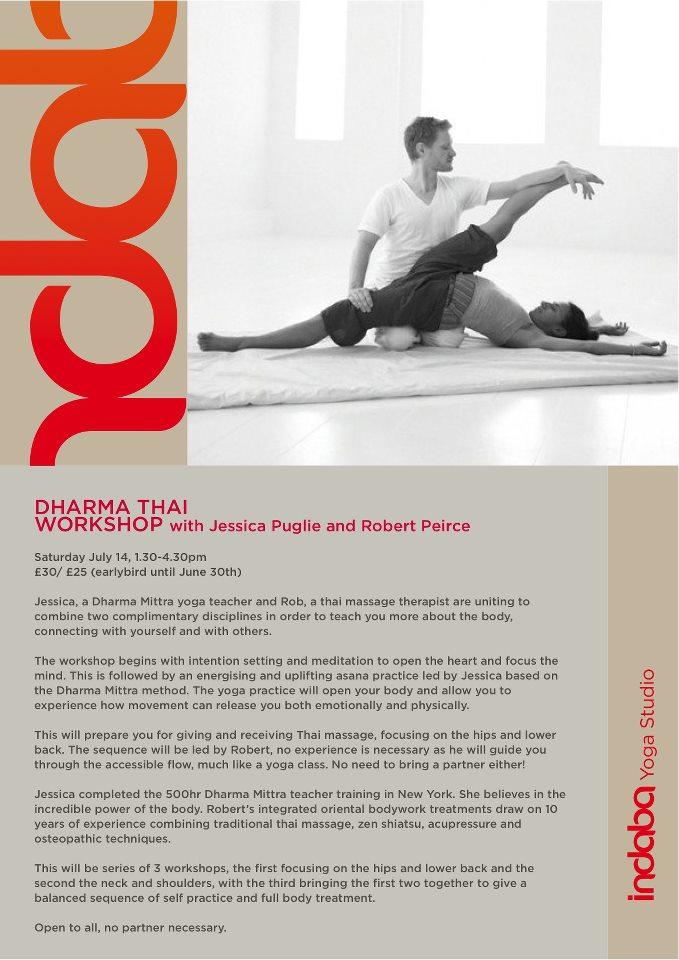 dharma thai workshop, indaba yoga