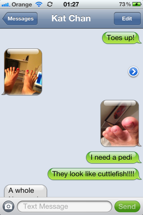 the toe tales of kat and krissa