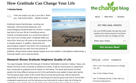 the change blog