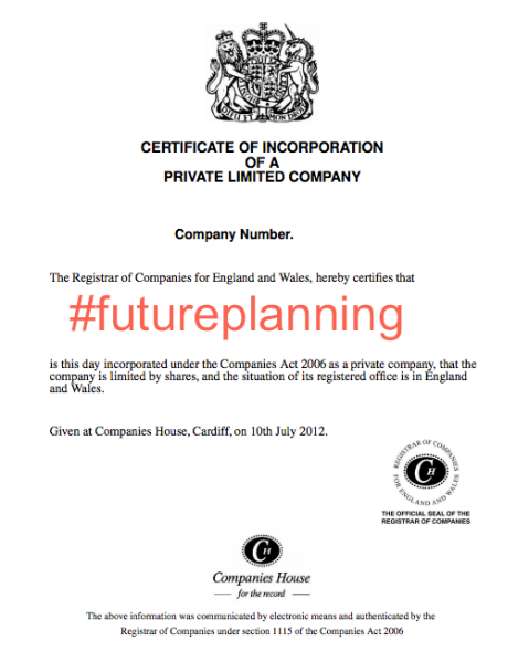 #futureplanning incorporation